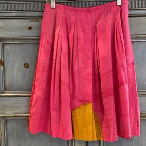 Piazza Sempione pink pleated cotton skirt size 46